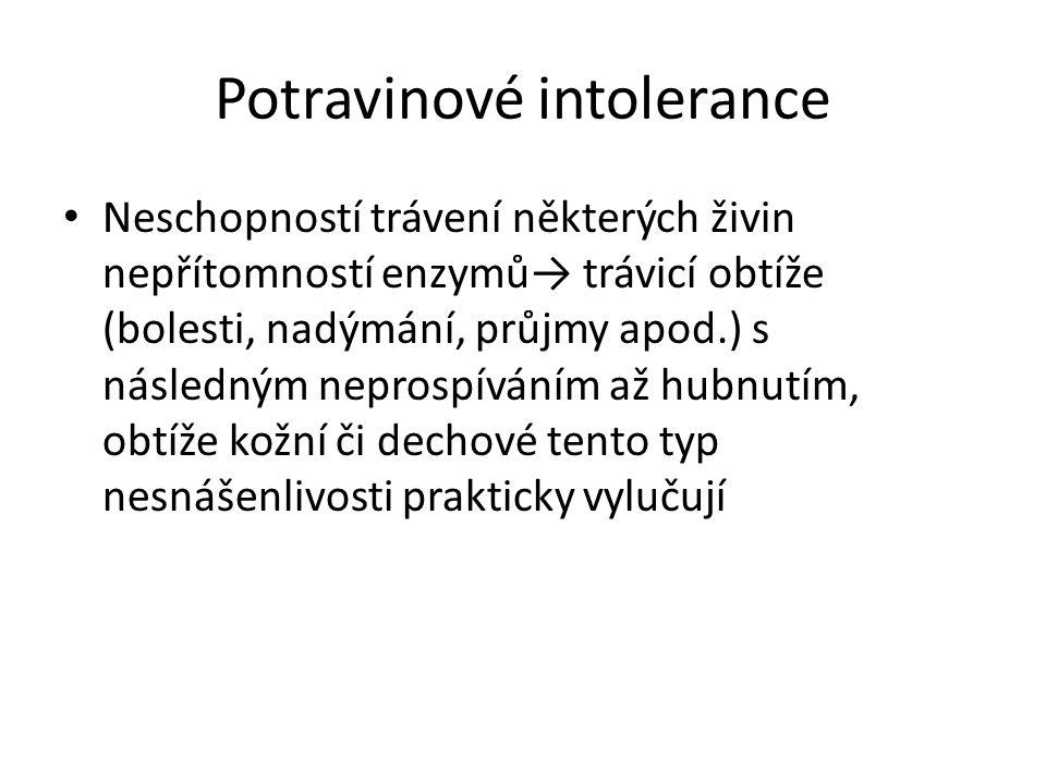 Potravinové intolerance