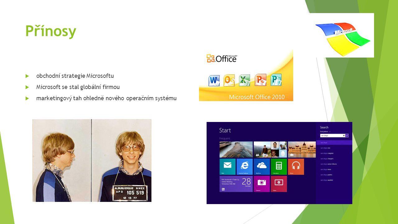 Přínosy obchodní strategie Microsoftu
