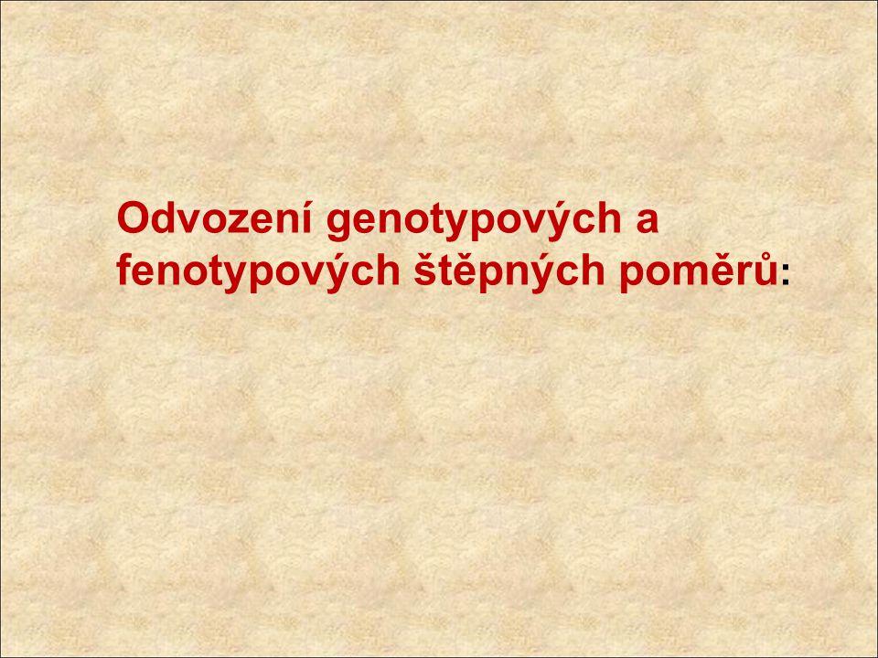 Odvození genotypových a fenotypových štěpných poměrů: