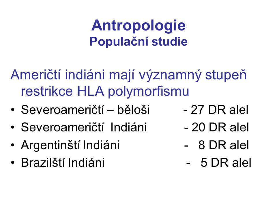 Antropologie Populační studie