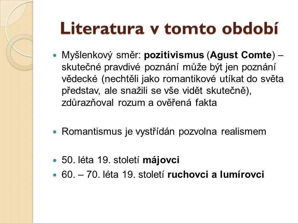 Literatura v tomto období