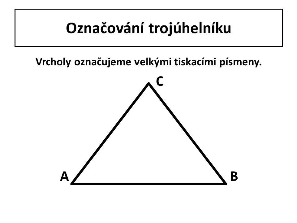 Označování trojúhelníku