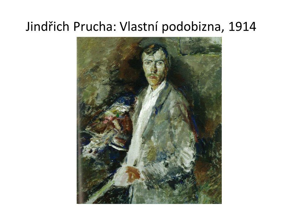 Jindřich Prucha: Vlastní podobizna, 1914