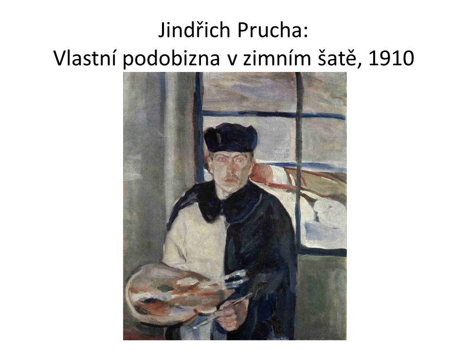 Jindřich Prucha: Vlastní podobizna v zimním šatě, 1910