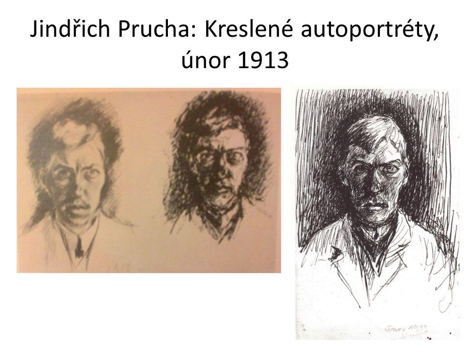 Jindřich Prucha: Kreslené autoportréty, únor 1913