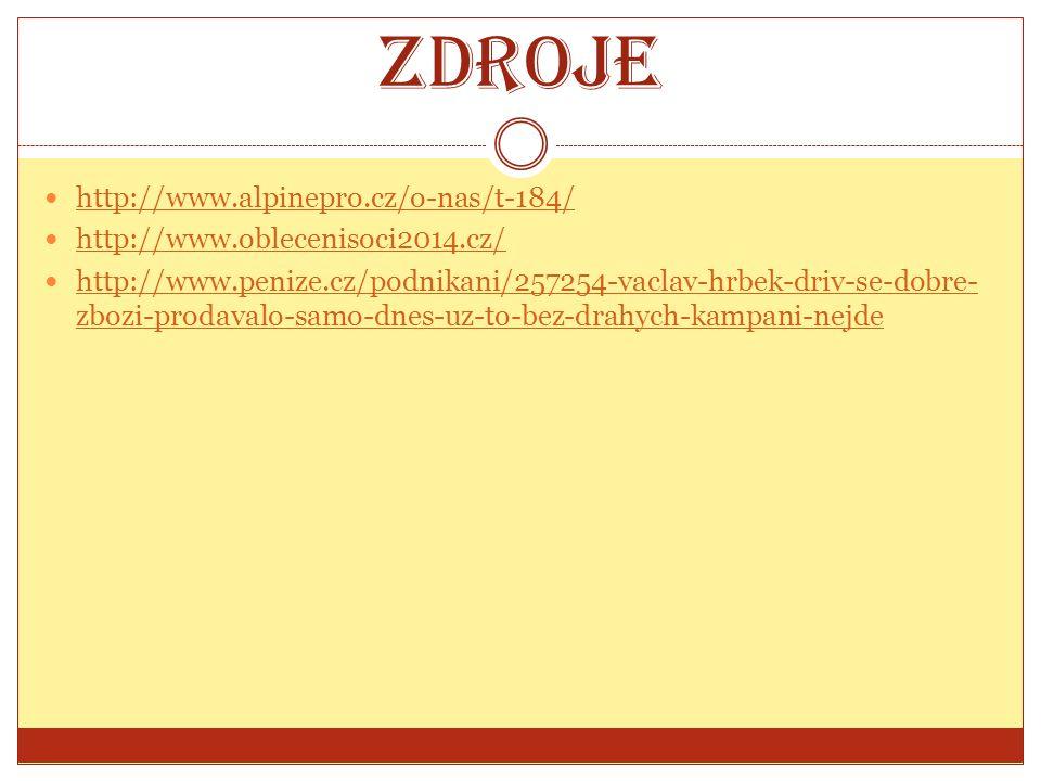 Zdroje http://www.alpinepro.cz/o-nas/t-184/