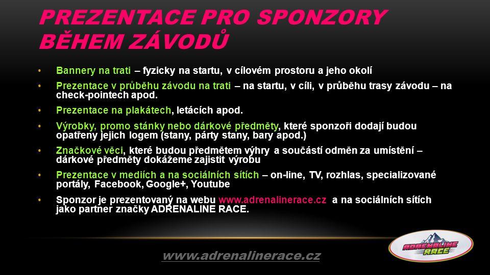 Prezentace pro sponzory během závodů