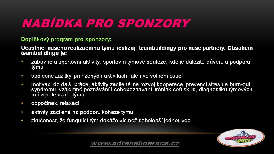 NABÍDKA pro sponzory www.adrenalinerace.cz