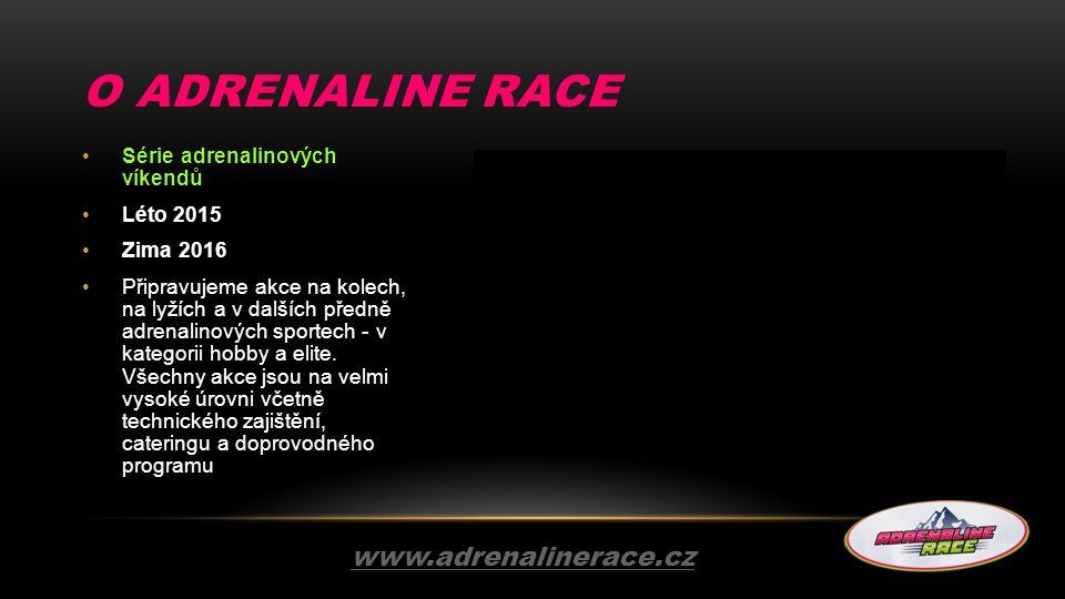 O adrenaline race www.adrenalinerace.cz Série adrenalinových víkendů