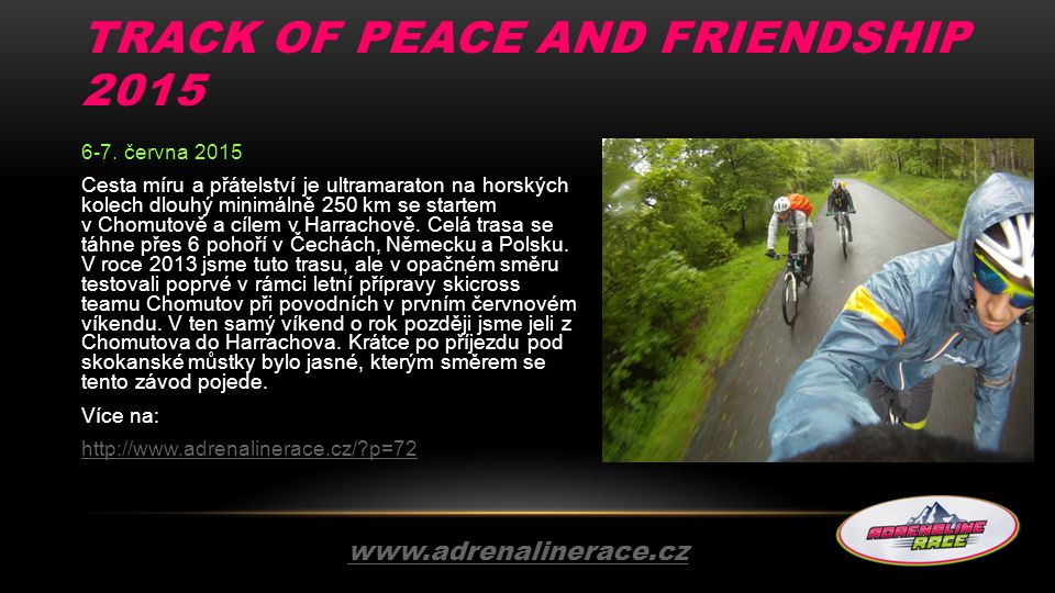 Track of Peace and Friendship 2015