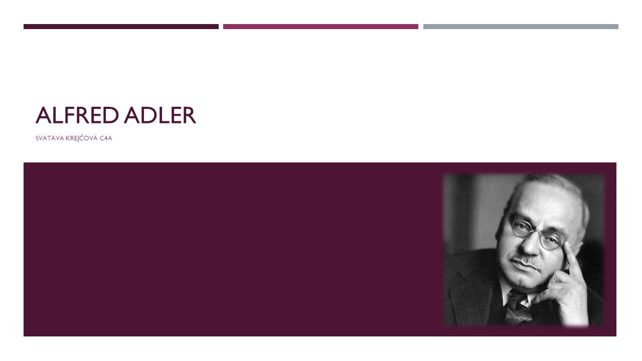 Alfred Adler Svatava Krejčová C4A