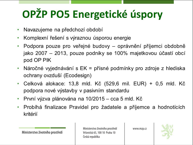 OPŽP PO5 Energetické úspory