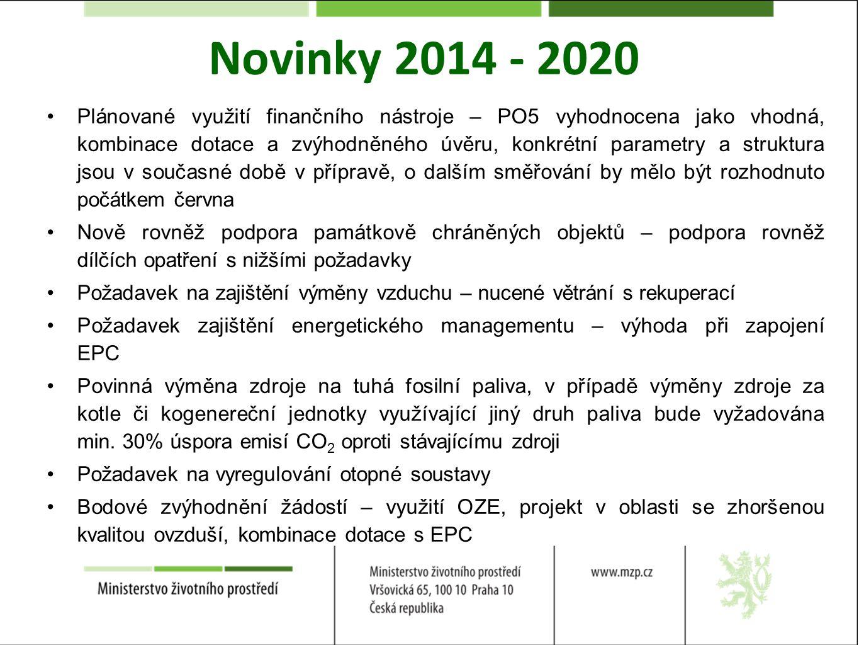 Novinky 2014 - 2020