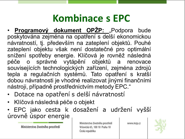 Kombinace s EPC