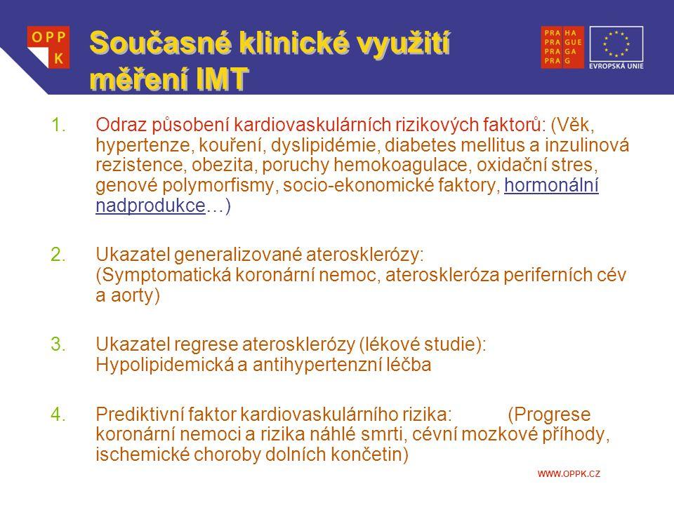 Současné klinické využití měření IMT