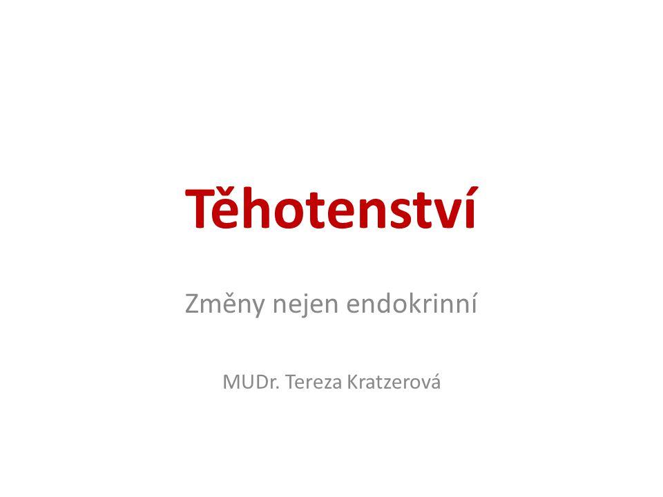 Změny nejen endokrinní MUDr. Tereza Kratzerová