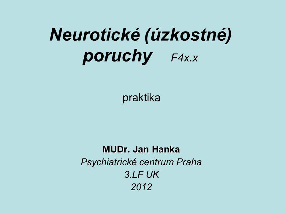Neurotické (úzkostné) poruchy F4x.x