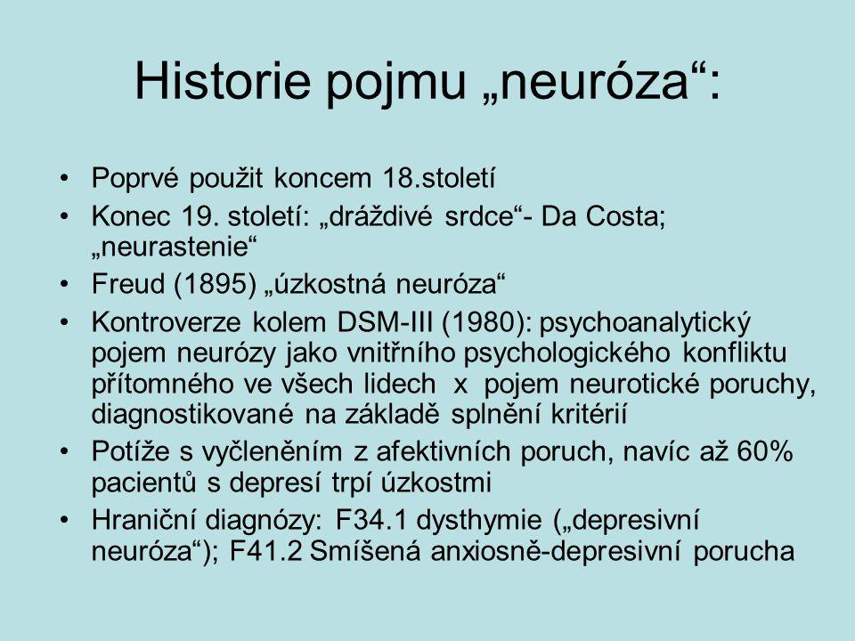 "Historie pojmu ""neuróza :"
