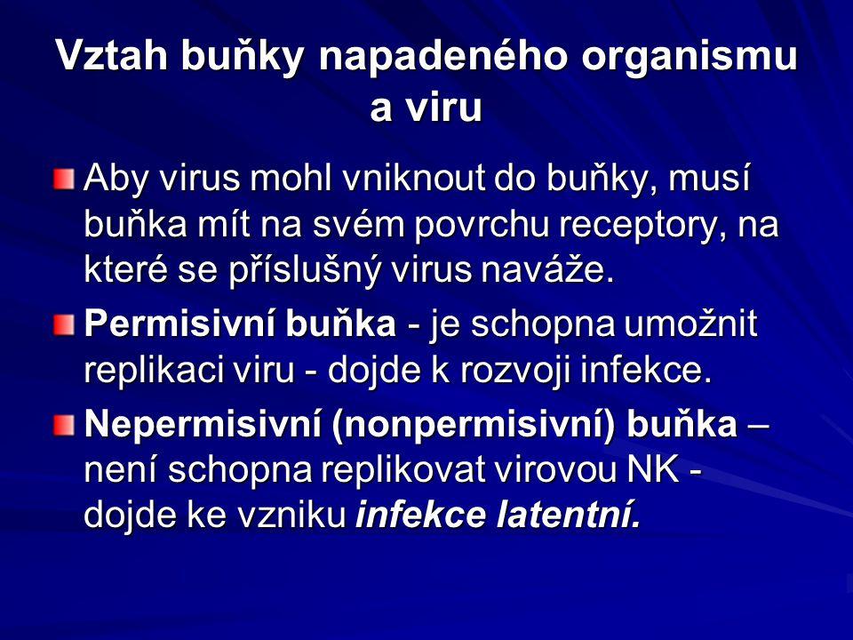 Vztah buňky napadeného organismu a viru