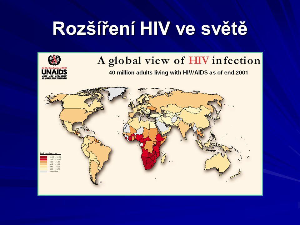 Rozšíření HIV ve světě