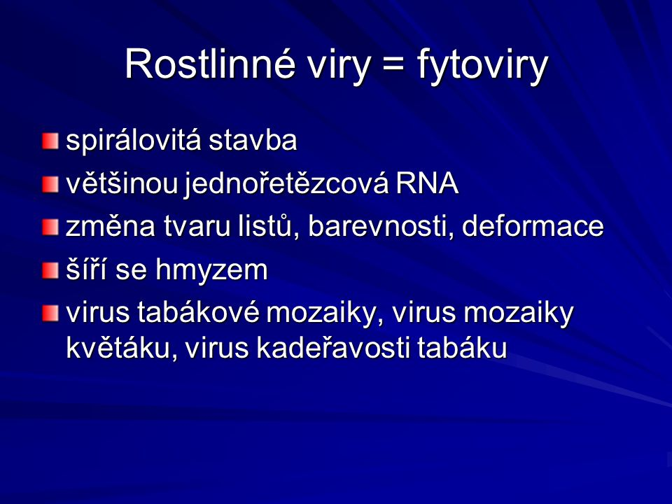 Rostlinné viry = fytoviry