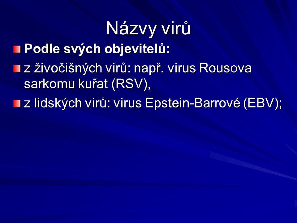 Názvy virů Podle svých objevitelů: