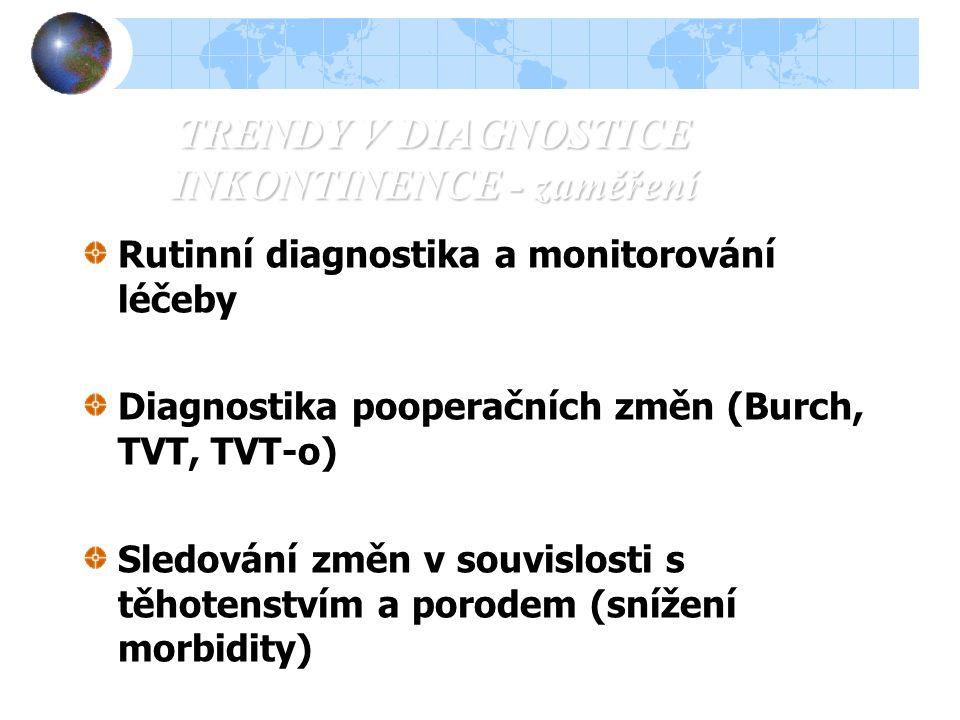 TRENDY V DIAGNOSTICE INKONTINENCE - zaměření