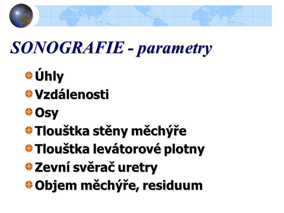 SONOGRAFIE - parametry