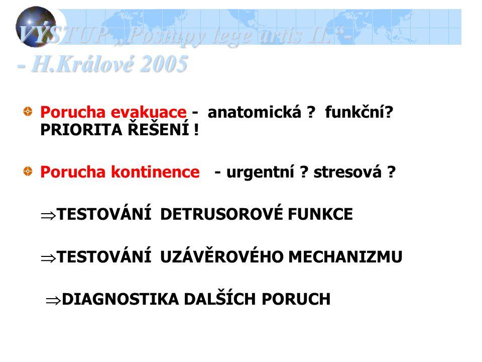 """VÝSTUP """"Postupy lege artis II. - - H.Králové 2005"""