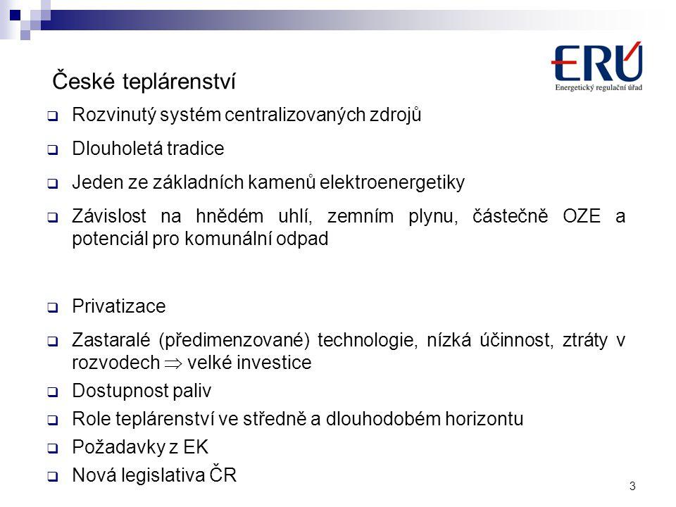 České teplárenství Rozvinutý systém centralizovaných zdrojů