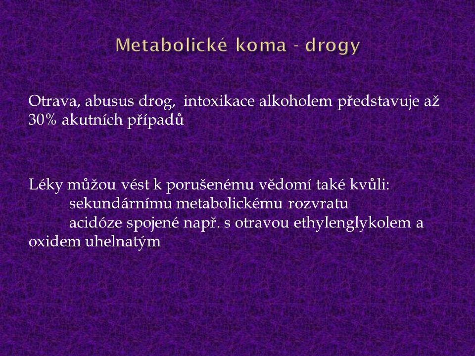 Metabolické koma - drogy