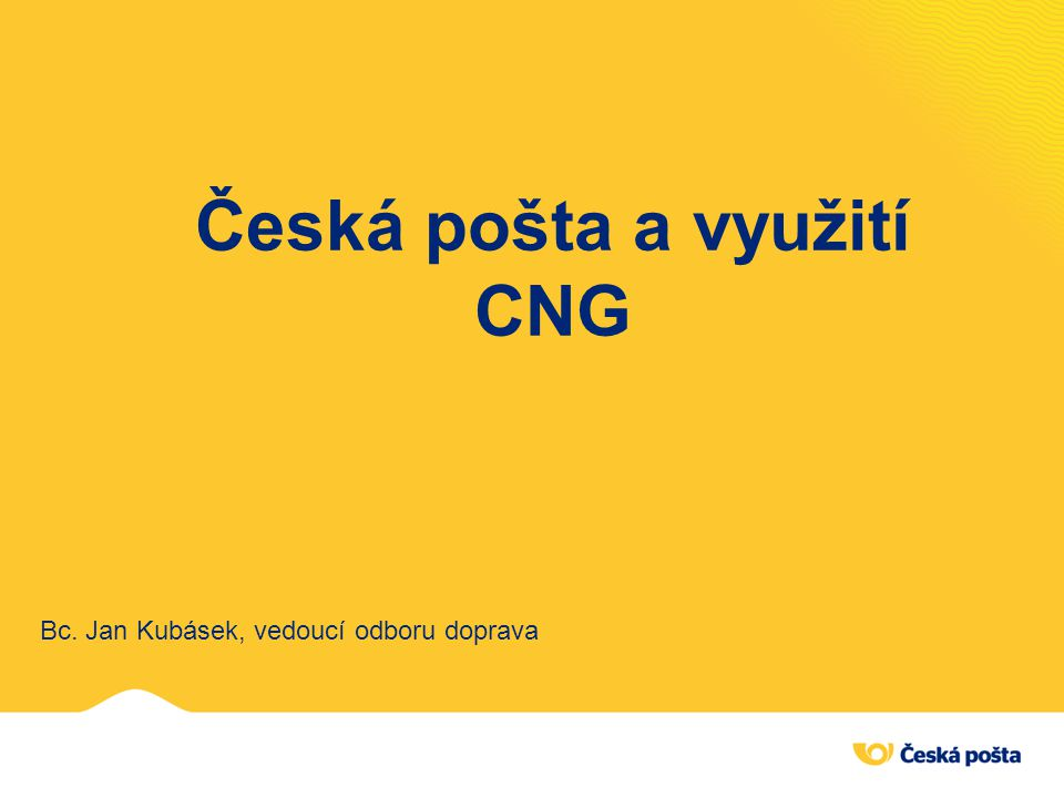 Česká pošta a využití CNG