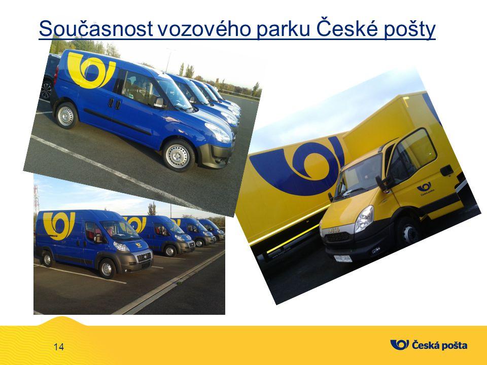 Současnost vozového parku České pošty