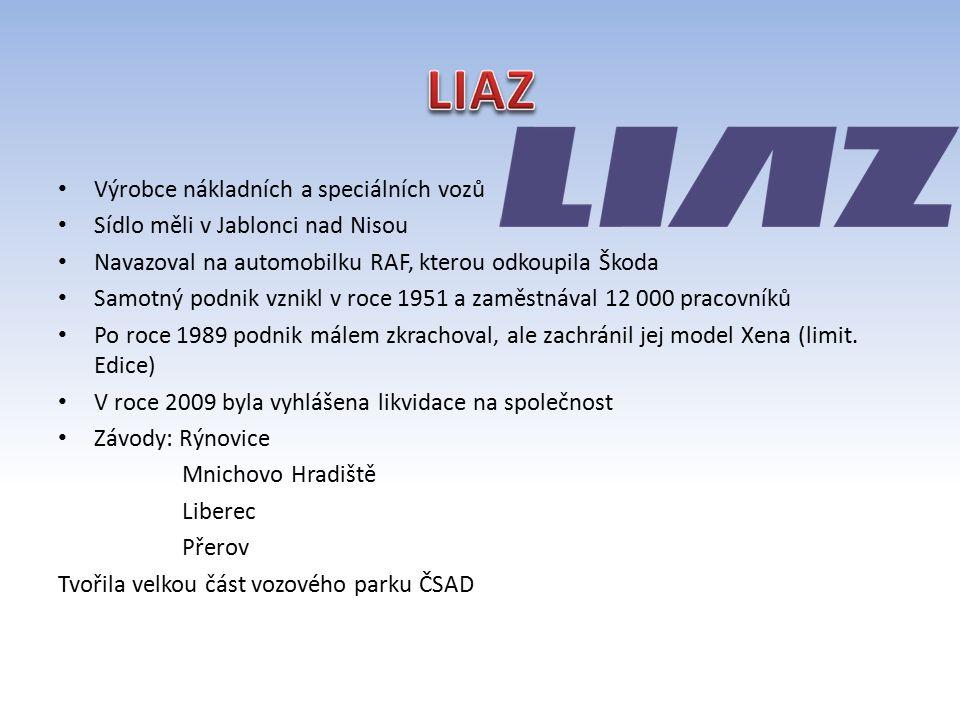 LIAZ Výrobce nákladních a speciálních vozů