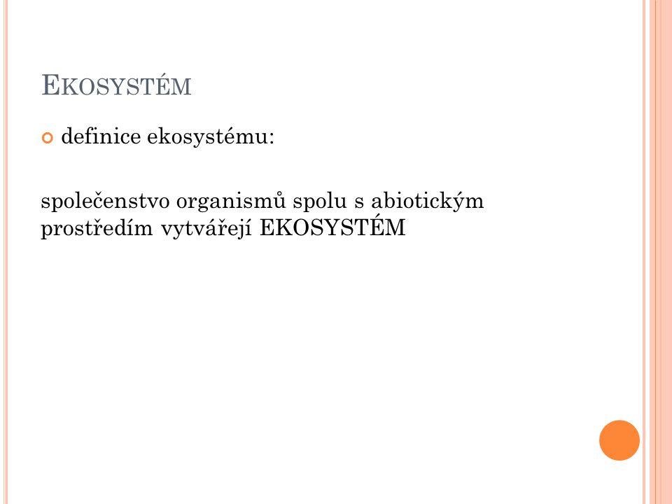 Ekosystém definice ekosystému: