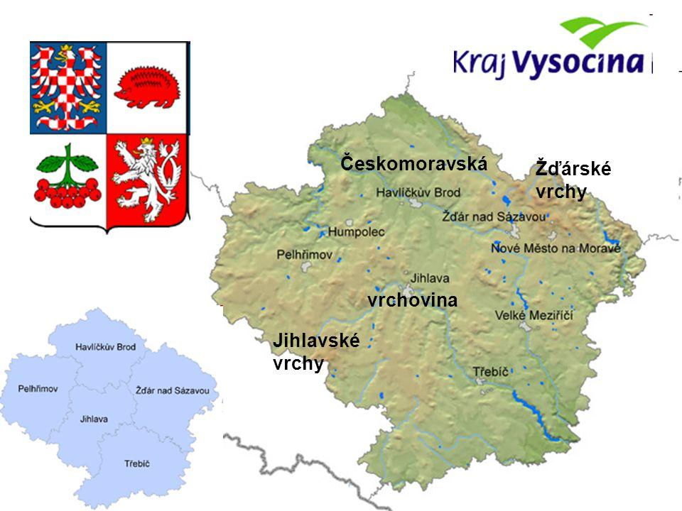 Českomoravská vrchovina Žďárské vrchy Jihlavské vrchy