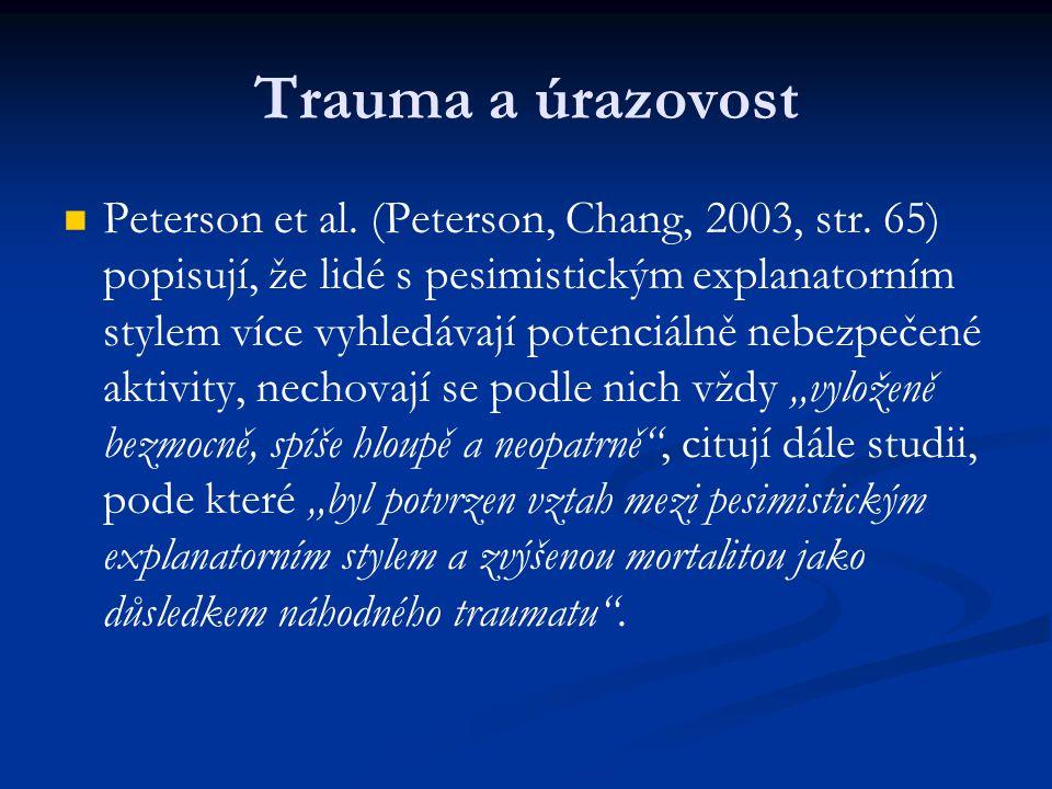 Trauma a úrazovost