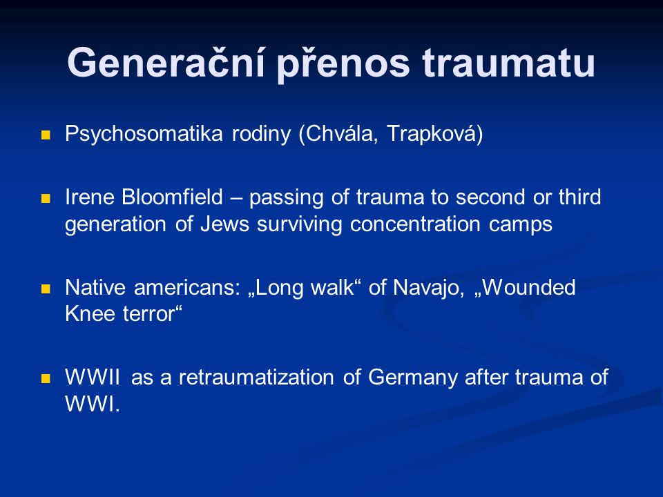 Generační přenos traumatu