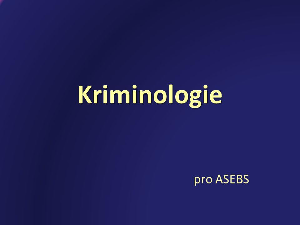 Kriminologie pro ASEBS