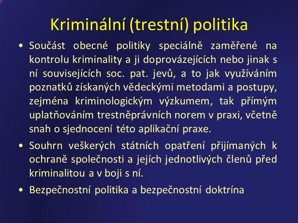 Kriminální (trestní) politika