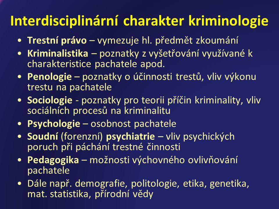 Interdisciplinární charakter kriminologie