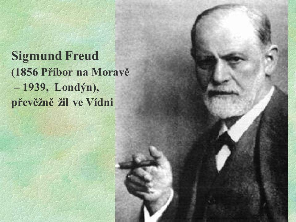 Sigmund Freud (1856 Příbor na Moravě – 1939, Londýn),
