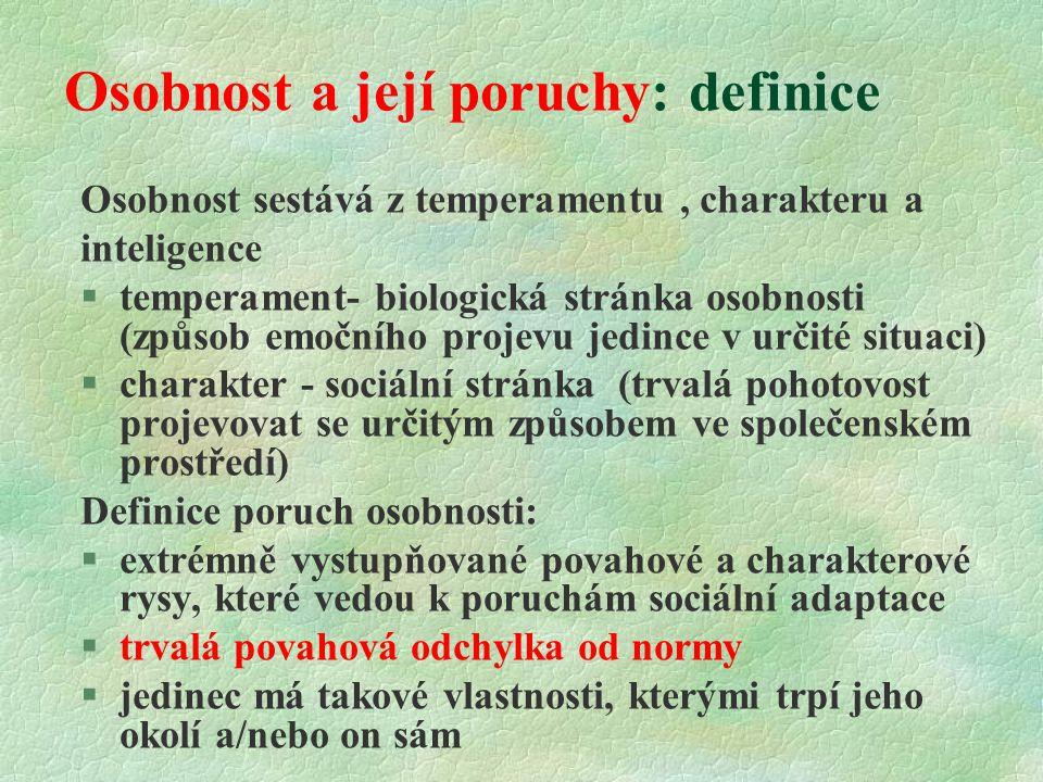 Osobnost a její poruchy: definice