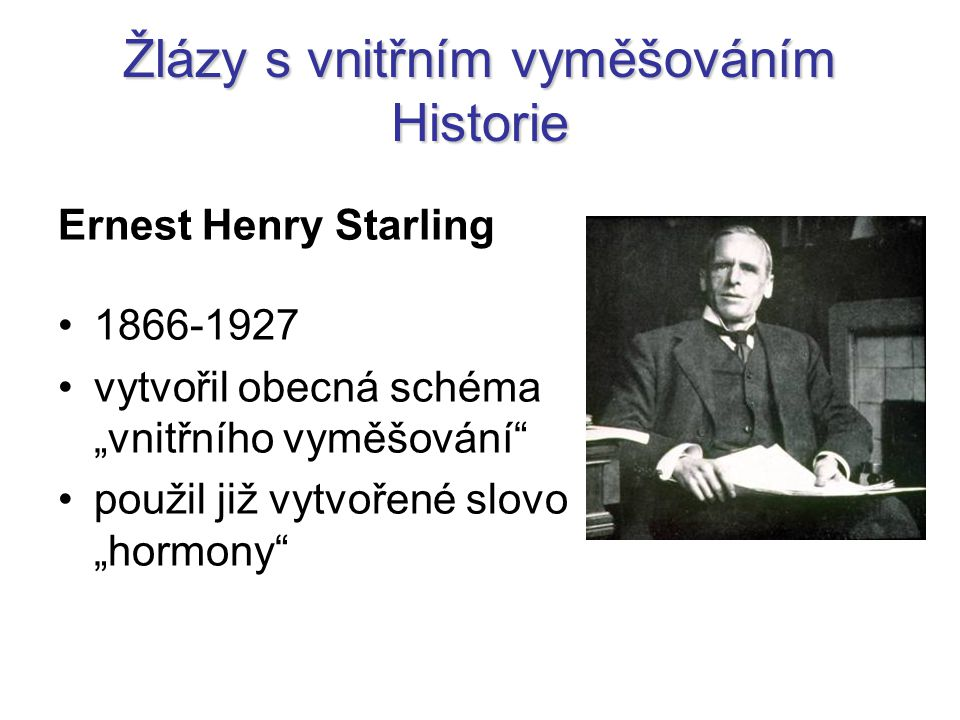 Žlázy s vnitřním vyměšováním Historie