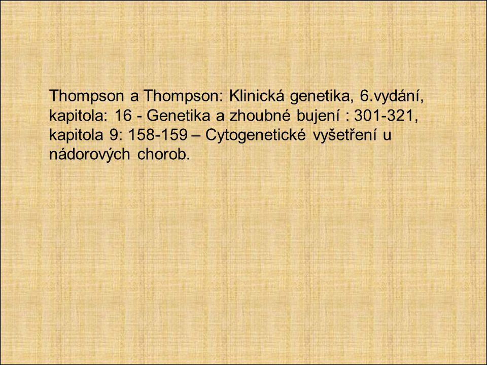 Thompson a Thompson: Klinická genetika, 6
