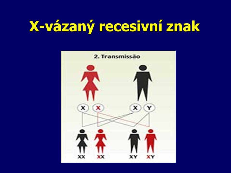 X-vázaný recesivní znak
