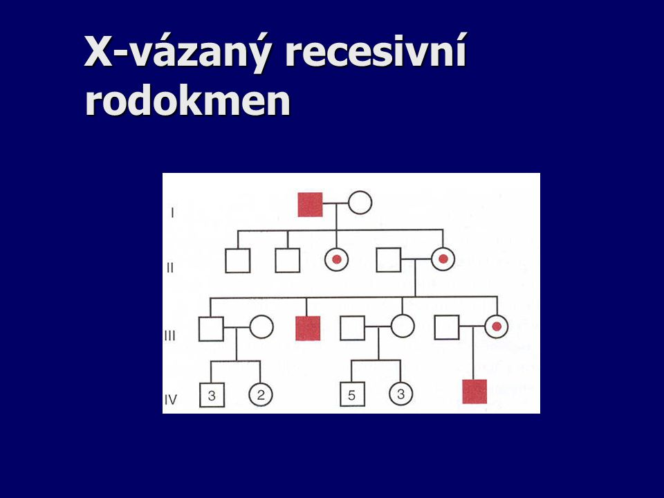 X-vázaný recesivní rodokmen