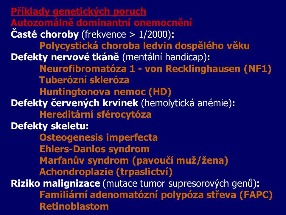 Příklady genetických poruch