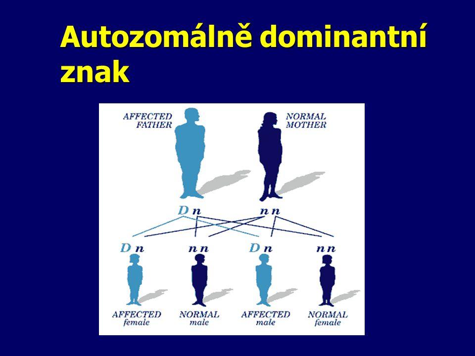 Autozomálně dominantní znak