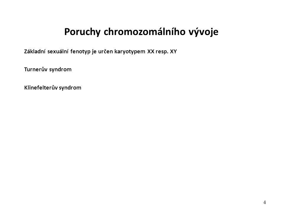 Poruchy chromozomálního vývoje
